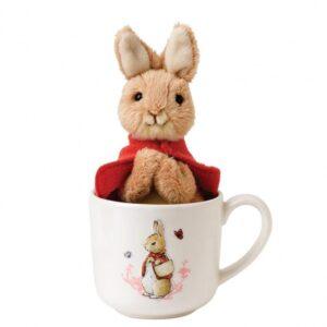 Beatrix Potter Peter Rabbit Flopsy Mug and Soft Toy Set
