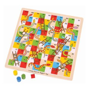 BigJigs Traditional Snakes and Ladders