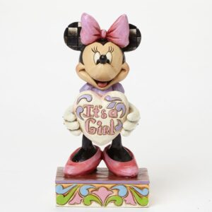 Minnie Mouse Figurine with It's a Girl sign
