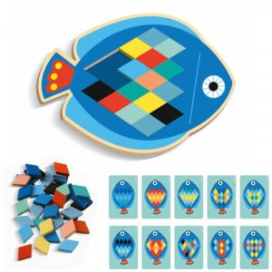 Djeco Wooden Fish Mosaic Game