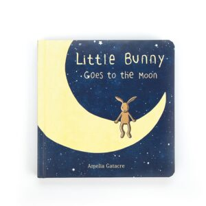 Jellycat Little Bunny Goes to the Moon book