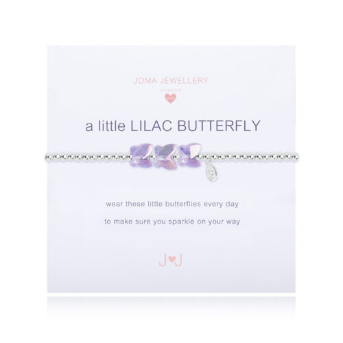 Joma Jewellery A Little Lilac Butterfly Bracelet