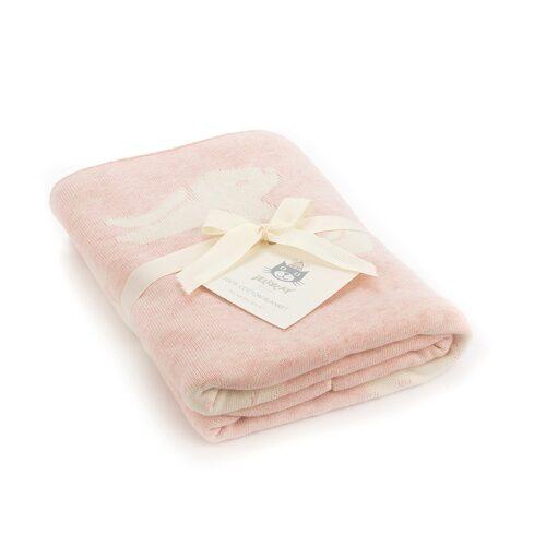 Jellycat Pink Bashful Bunny Blanket