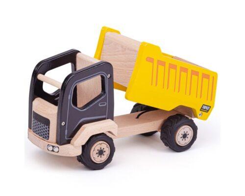 wChilds wooden toy tipper truck