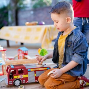 fire engine wooden toy