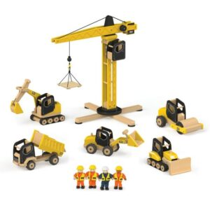 child's wooden crane set